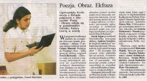 Ekfraza, życie kalisza, 18.05.2011