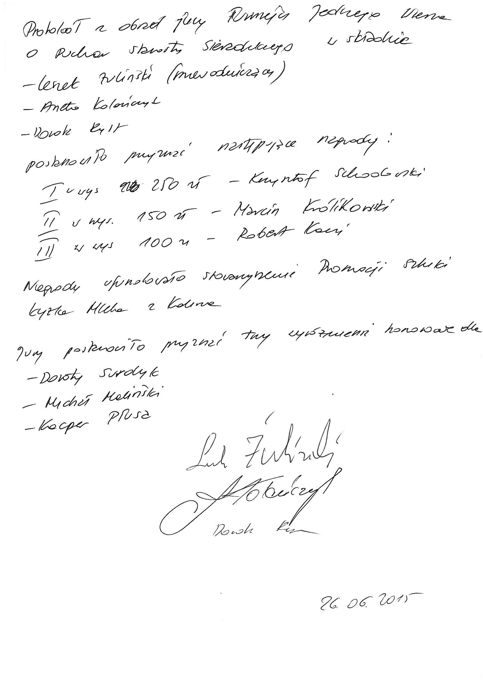 protokół jury29.06.2015