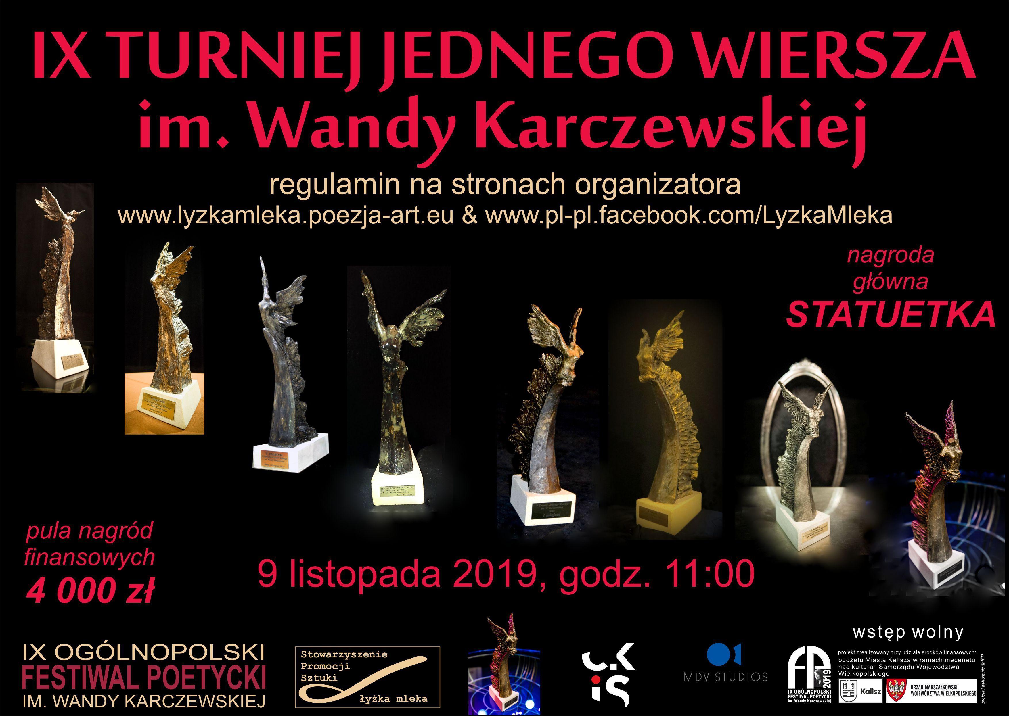 Ix Turniej Jednego Wiersza Im Wandy Karczewskiej 9 Xi 2019