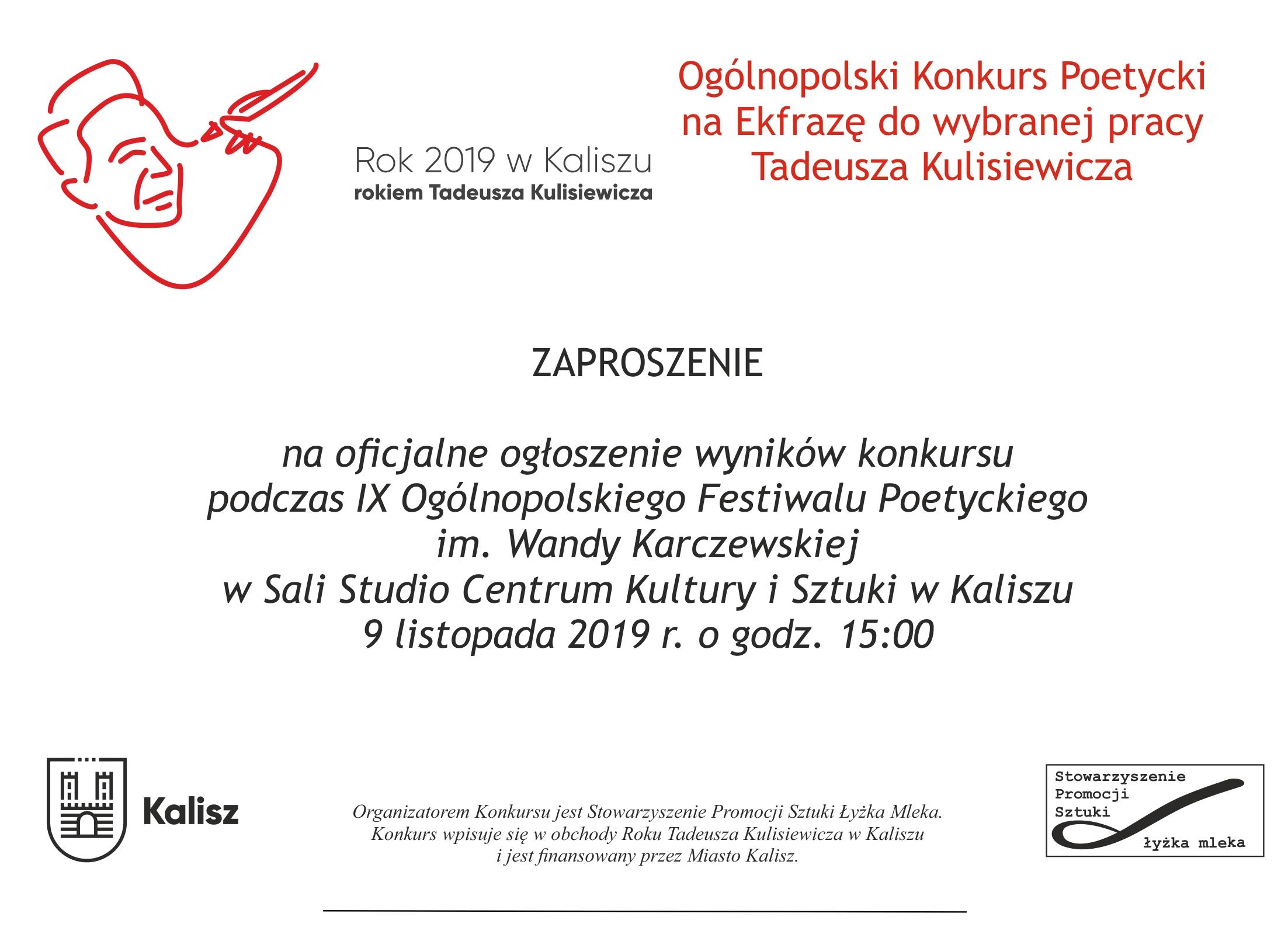 Konkurs Na Wiersz Ekfrazę Stowarzyszenie Promocji Sztuki